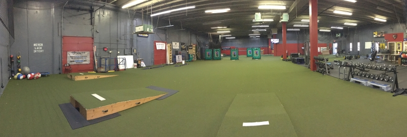 baseball training facility pitching hitting weight room - Facility